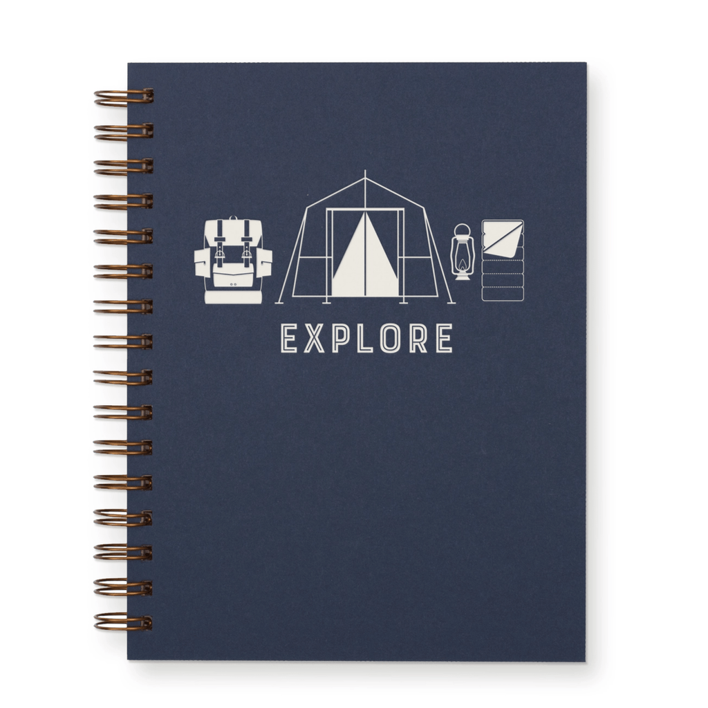 Explore Camp Themed Lined Notebook
