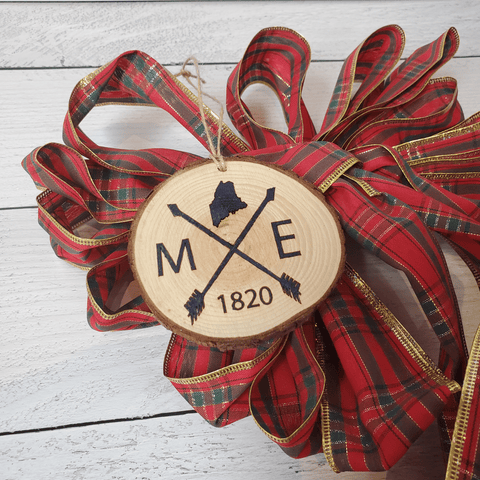Maine 1820 Wood Slice Ornament