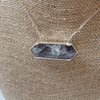 Fluorite Bar .925 Necklace