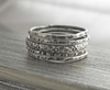 Floral Sterling Silver Stacking Ring