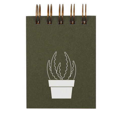 Mini Notepad- Succulent