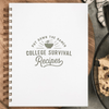 Cookbook, College Survival Recipe Book
