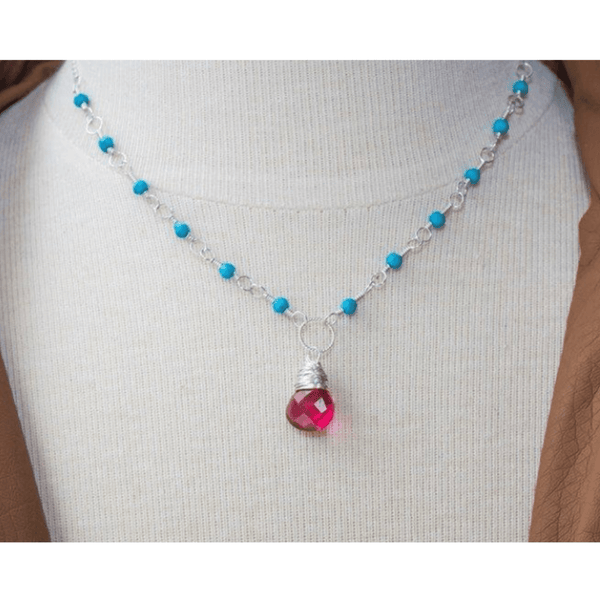 Pink and Turquoise Necklace