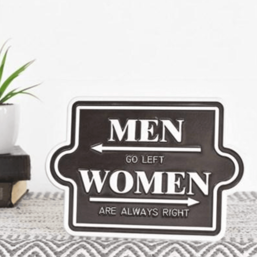 Men / Women Metal Sign