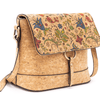 Floral Tan Cork Adjustable Crossbody