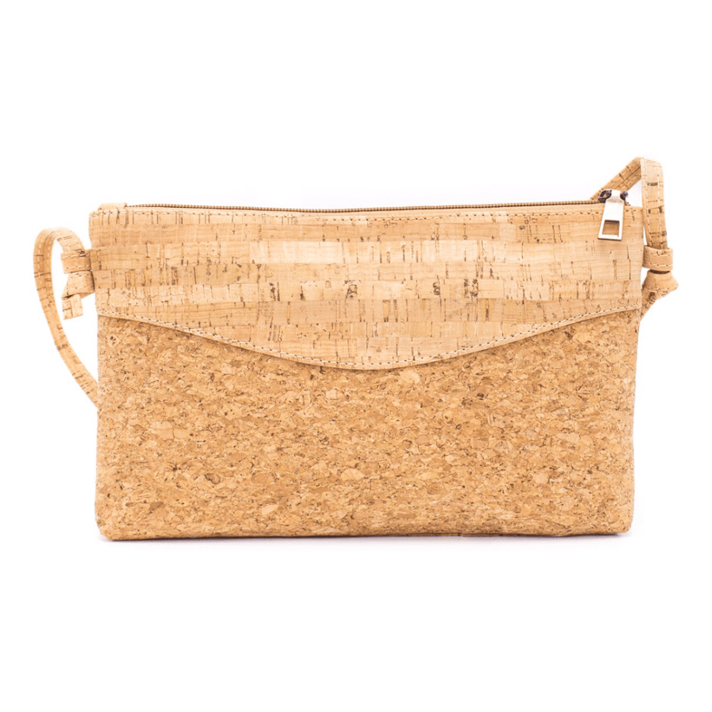 Natural Cork Rectangle Crossbody Bag