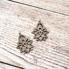 Walnut Filagree Lotus Sterling Earrings