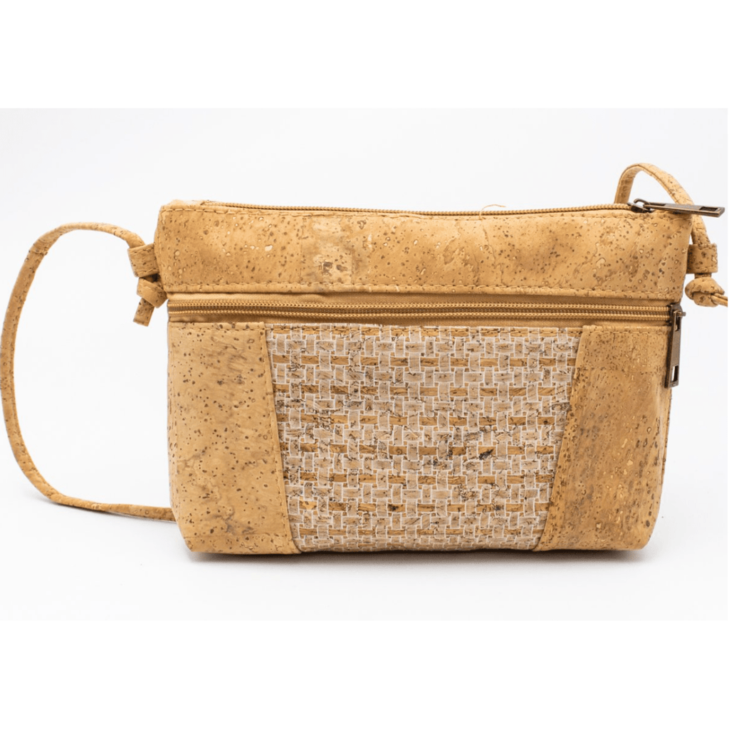 White Grid Cork, Medium Messenger Bag