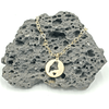Mini Maine Circle Gold Necklace