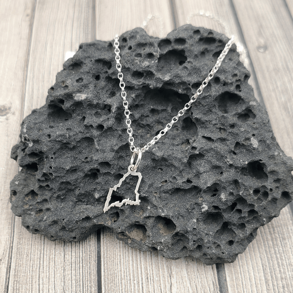 Mini Maine Outline Necklace