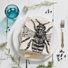 Honeybee Tea Towel- Black