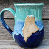 Mug, Pottery, Maine, Blue/Teal