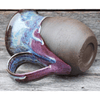 Mug, Pottery, Purple/Exposed