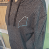 Hoodie Sweatshirt, Women's, Metallic Blue Outline