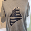 Maine Flag T-Shirt, Military Green