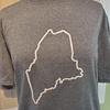 Maine Outline T-Shirt, Grey