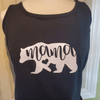 Mama Bear Tank Top, Black