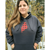 Maine Plaid Hoodie Sweatshirt, Unisex, Black