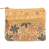 Autumn Floral Cork Coin Zip Purse