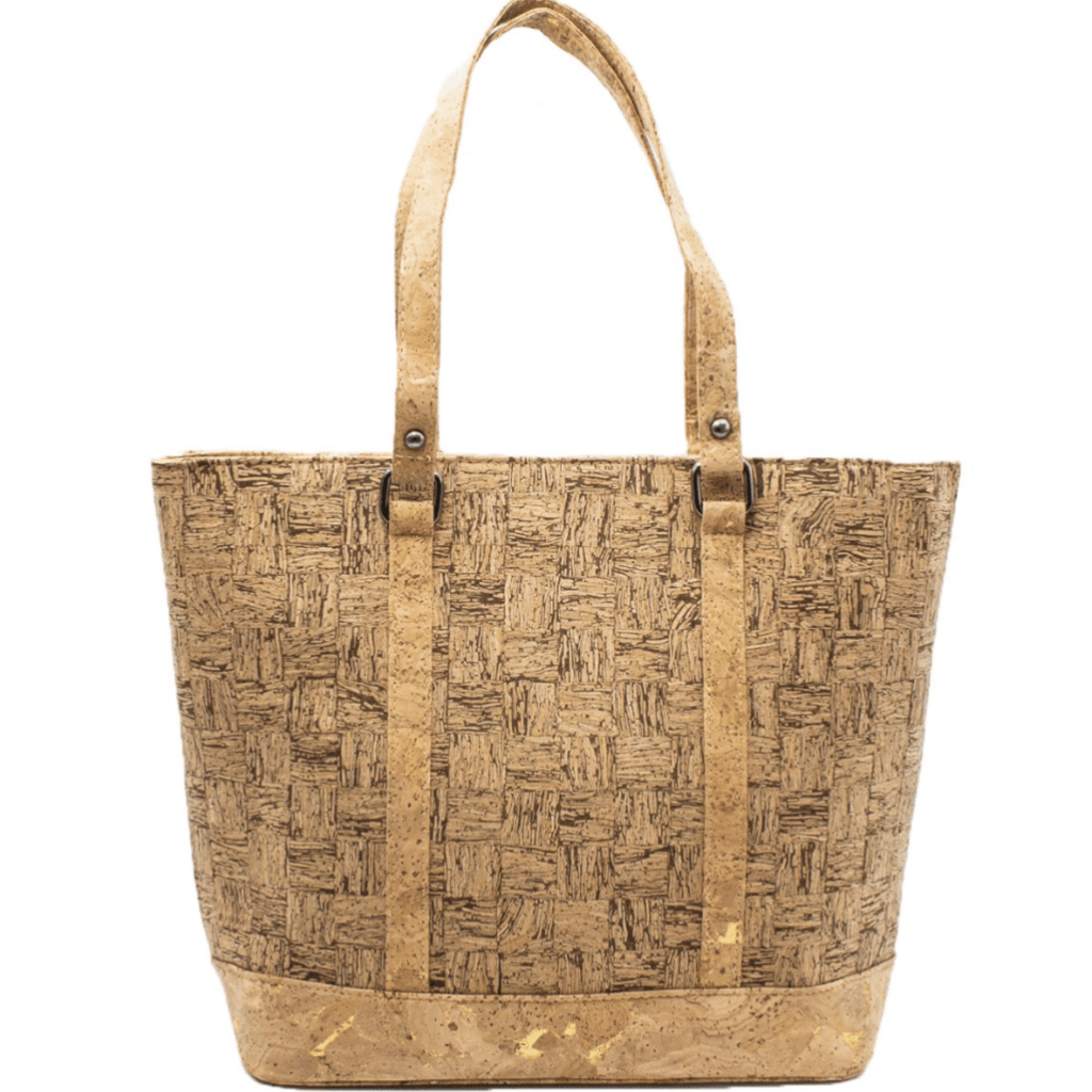 Checkered Cork Large Tote
