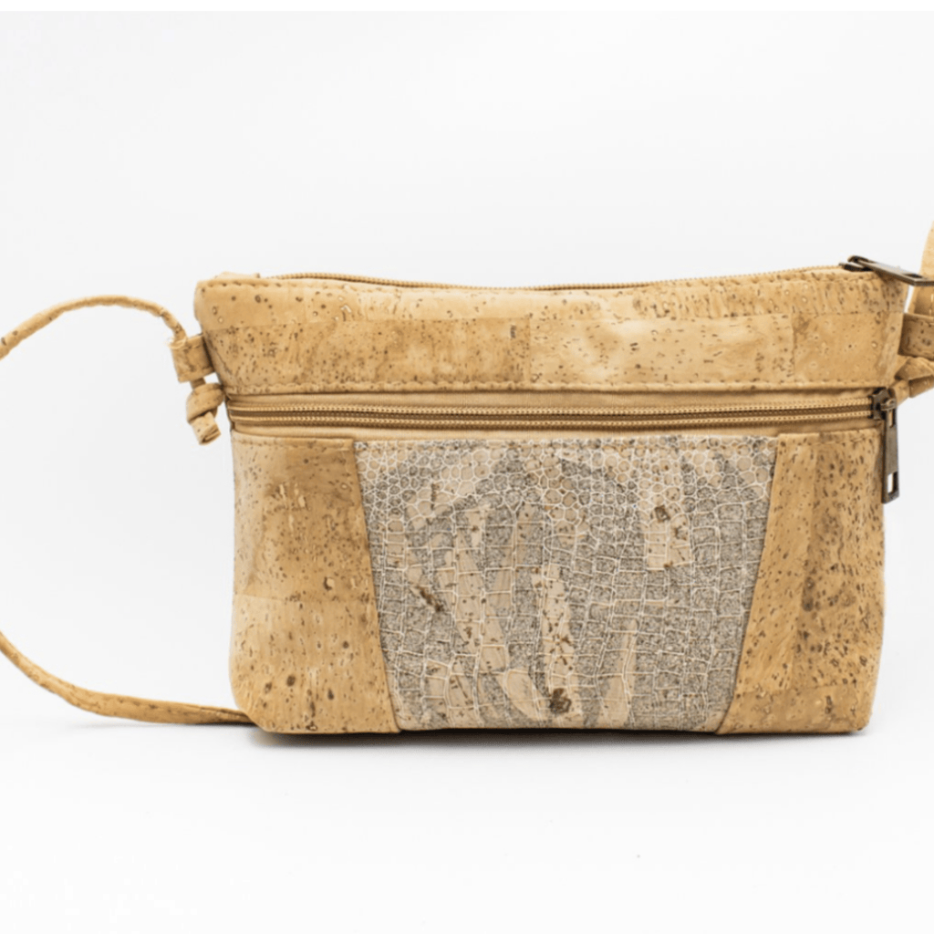 Snake Print Cork, Medium Messenger Bag