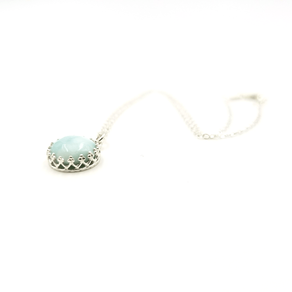 Larimar Bezel Necklace