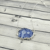 Blue Solar Quartz Silver Electroplated Necklace