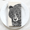 Black Bear Tea Towel- Black