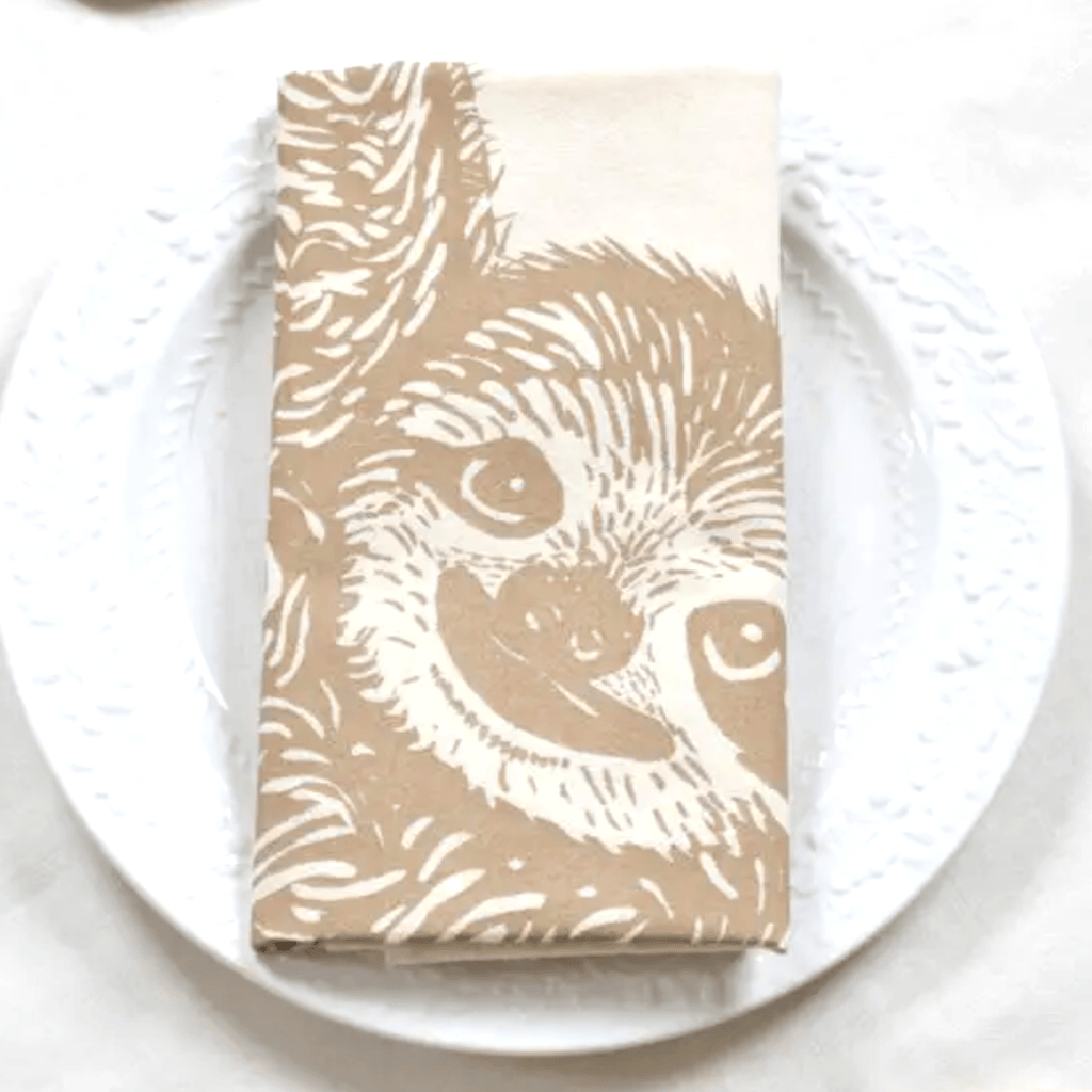 Sloth Tea Towel- Brown