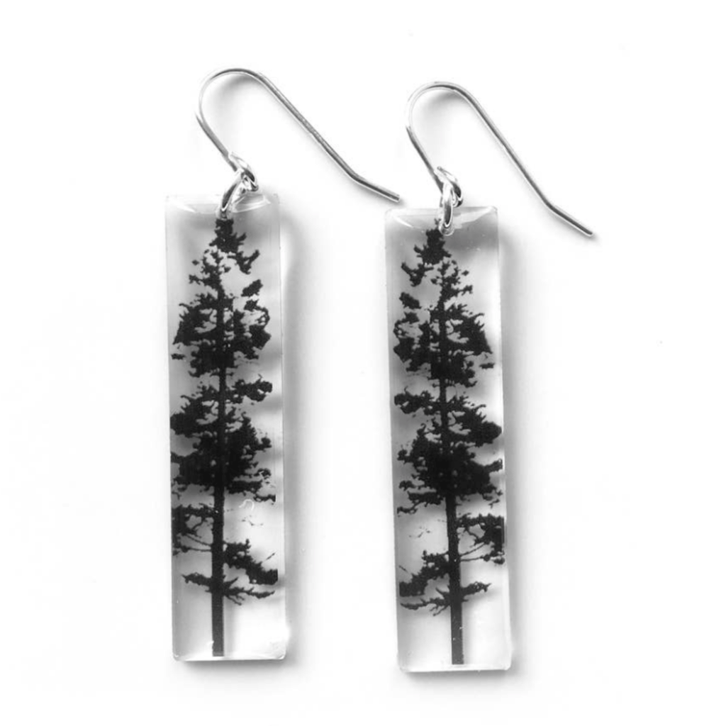 Tall Forest Earrings, Sterling Silver