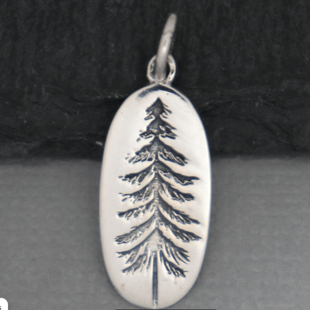 Pine Tree Charm .925 Necklace