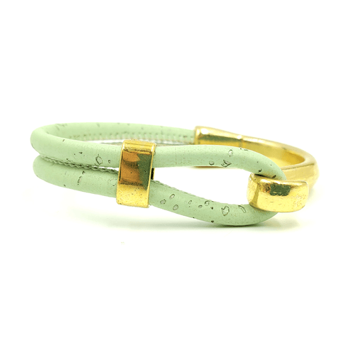 Pick Your Color- Gold Cork Hook Bracelet