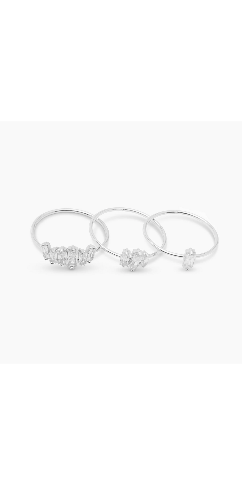 Amara Ring Set (white cz)-Sea Biscuit Del Mar