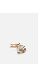 Arch Ring Set - Silver/Rose/Gold-Sea Biscuit Del Mar