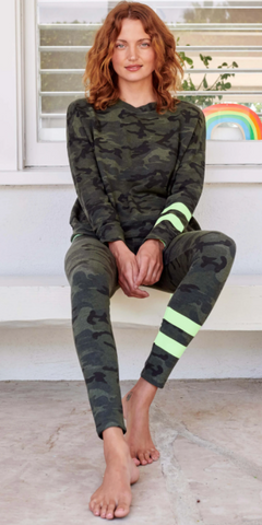 Arm Stripe Camo Sweatshirt-Sea Biscuit Del Mar