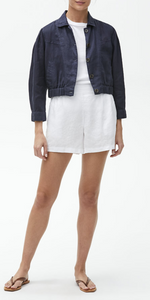Babe Puff 3/4 Sleeve Crop Jacket-Sea Biscuit Del Mar