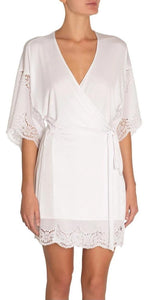 Beatrix Full Lace Robe-Sea Biscuit Del Mar