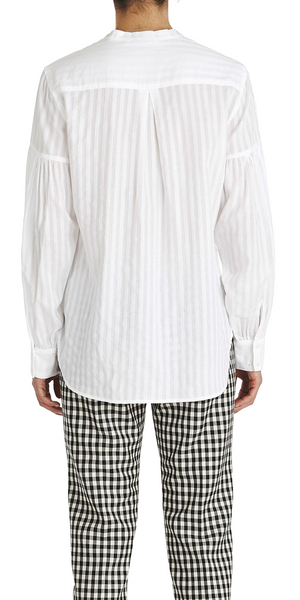 Cara Volume Sleeve Stripe Shirt-Sea Biscuit Del Mar