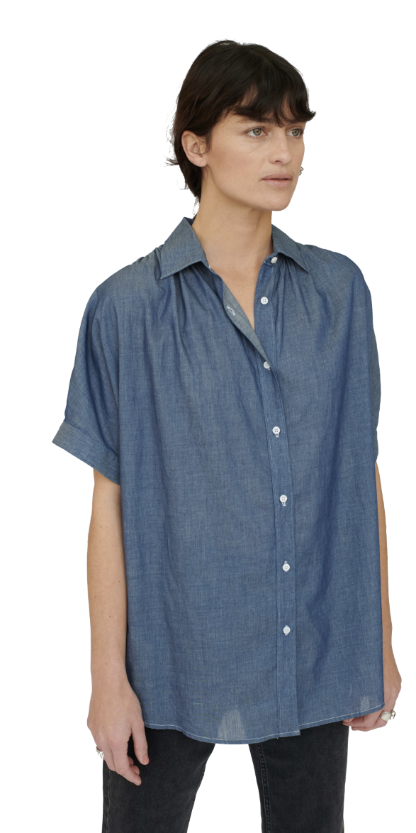 Chambray Button Down-Sea Biscuit Del Mar
