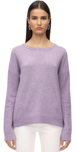 Cici Patch Cashmere Sweater - Mauve-Sea Biscuit Del Mar