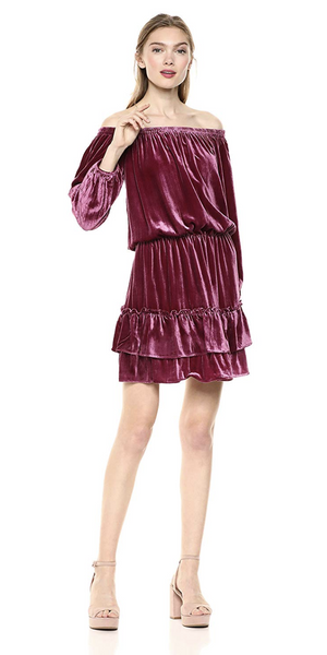 Crinkled Velvet Smocked Dress-Sea Biscuit Del Mar