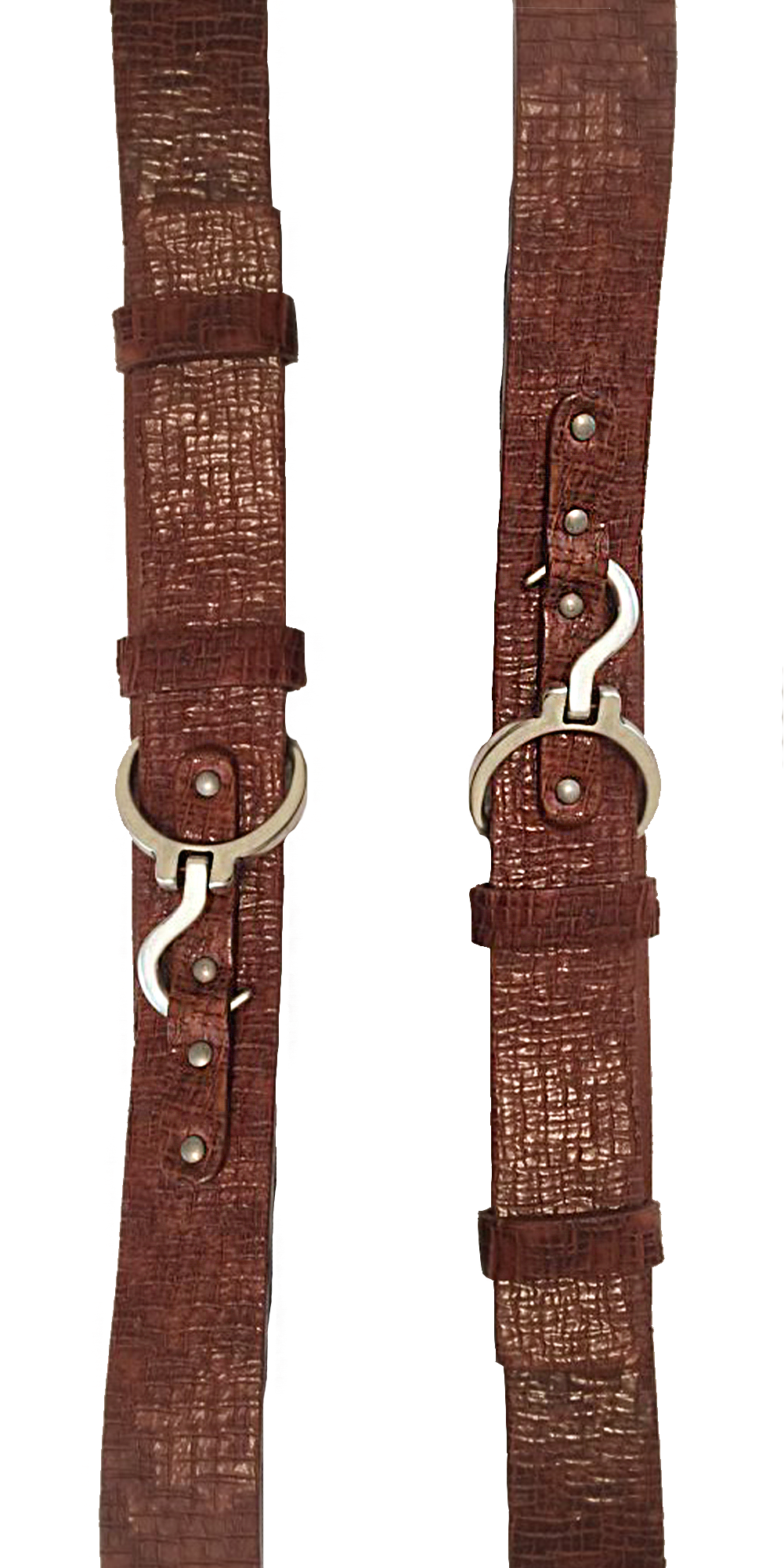 Croc Belt with Hook - Cognac-Sea Biscuit Del Mar
