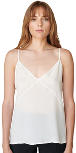 Cupro Cami - Cream-Sea Biscuit Del Mar