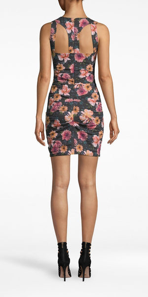 Dahlia Bloom Racerback Dress-Sea Biscuit Del Mar