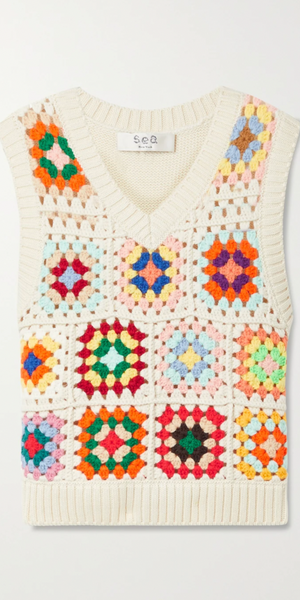 Gabriela Crochet Vest-Sea Biscuit Del Mar