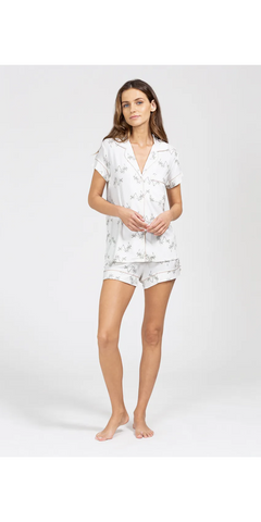 Gisele Printed Short PJ Set-Sea Biscuit Del Mar