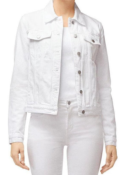 Harlow Shrunken Jacket - White-Sea Biscuit Del Mar