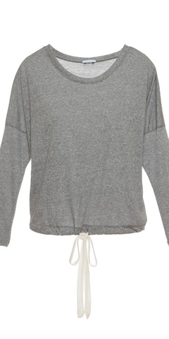 Heather Slouchy Top-Sea Biscuit Del Mar