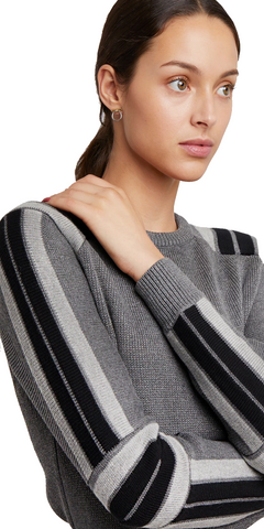 Janica Sweater - Grey-Sea Biscuit Del Mar
