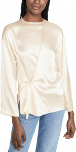 Knot Front Top - Chiffon-Sea Biscuit Del Mar